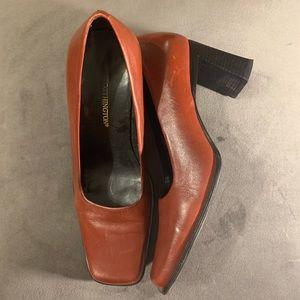 Worthington Heels Bonnye Square Toe Block Leather